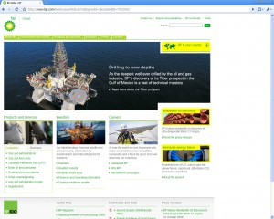 BP keeps their home page clean and concise, allowing users to skim effortlessly