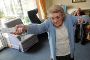 Even the elderly could not resist the Nintendo Wii (source: BBC)