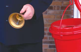 A Salvation Army bell ringer