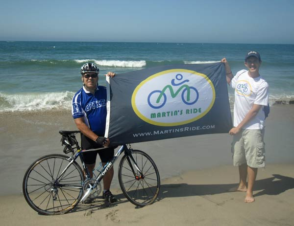 Martin's Ride To Cure Cancer Hits The Beach picture with banner