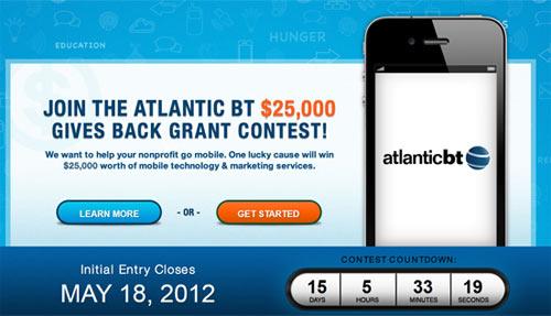 Atlantic BT Gives Back Mobile Marketing Contest