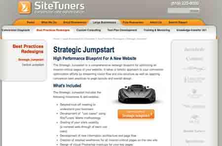 sitetuners simple landing example