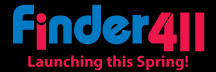 Finder411.com logo and link