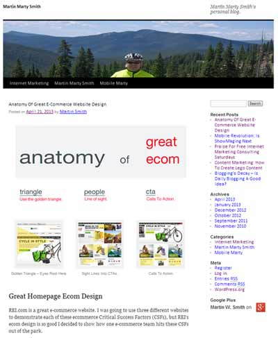 Anatomy of Great E-Commerce on Martin Marty Smith link