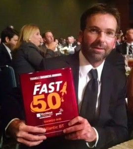 Jon Jordan founder and CEO of Atlantic BT at the TBJ Fast 50 awards banquet