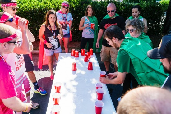 flip cup players