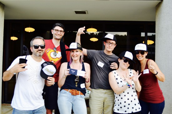 AtlanticBT employees posing for camera 8