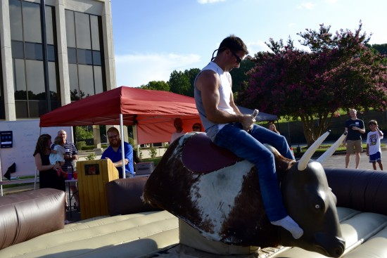 mechanical bull riding shot 11