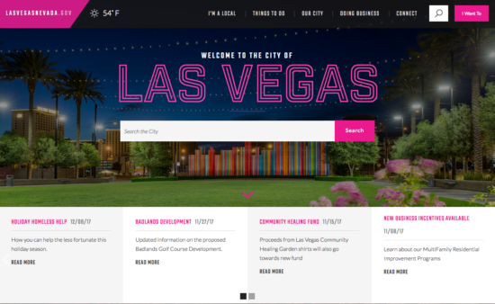 Las Vegas municipal sites with prominent search