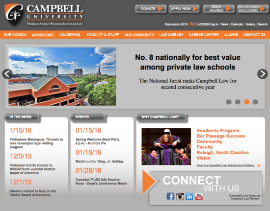 Legacy site for the Campbell Law School