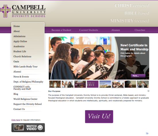 Legacy site for the Campbell Divinity School