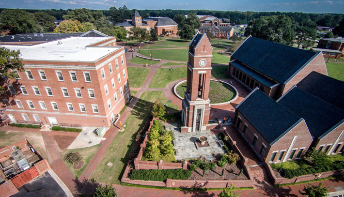 Aerial view of Campbell University