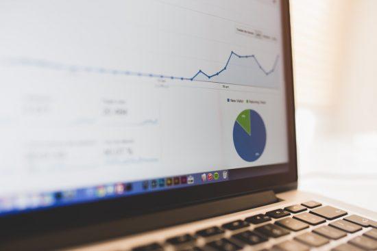 Google analytics page on laptop