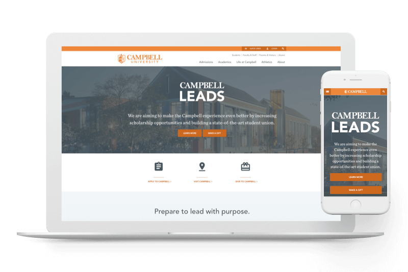 Campbell University website by Atlantic BT