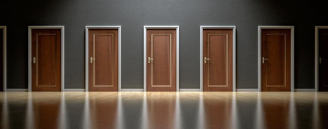 Doors in a hall way