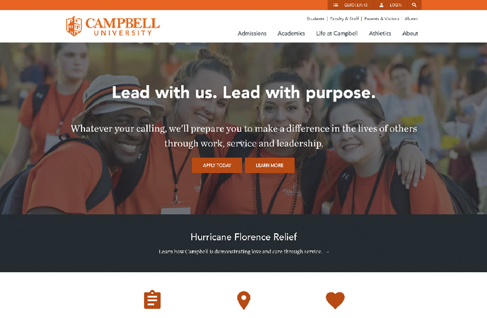 Campbell University after redesign