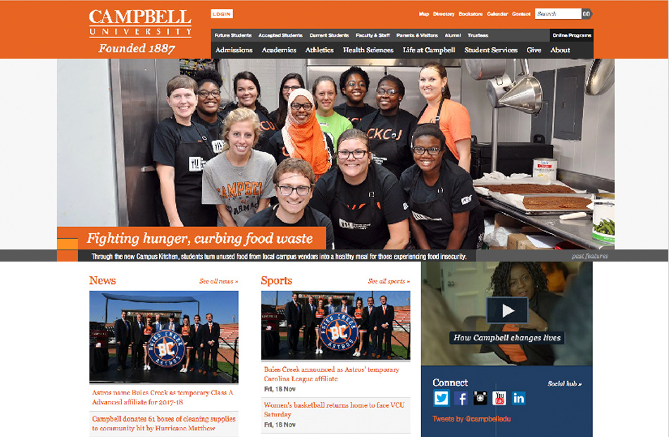 Campbell University before redesign