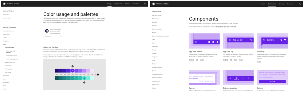 Google Material Design Style Guide and Component Library