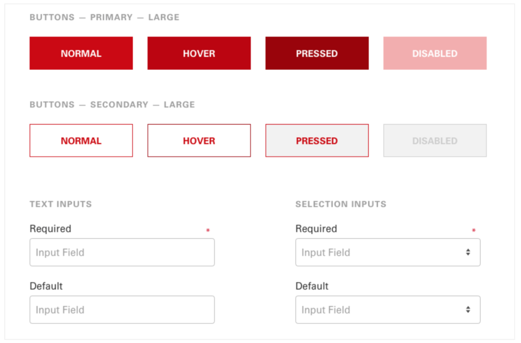 Buttons and Input Fields - Design Systems